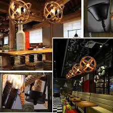 industrial vintage rope chandelier fixture sphere ceiling light pendant 3 lights