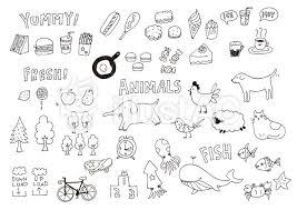 イラスト フリー素材 手描き 線画 かわいい 落書き Art Work