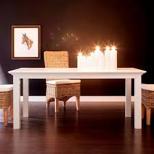 white rectangular dining table. Modern Halifax White Rectangular Dining Table