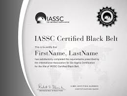 iassc lean six sigma black belt exam included from hudson an an example of an official iassc six sigma black belt certification which you will gain upon