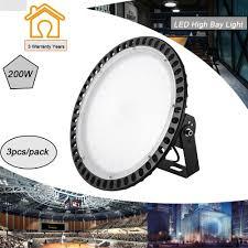 Best Gym Lighting 3x 200w Ufo Led High Bay Lights Super Bright Factory