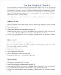 Printable Wedding Timeline Checklist Printable Wedding Checklist Sample 9 Examples In Pdf Word