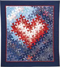 Free Pattern – Jeri Auty's TESSELLATING HEARTS Quilt – AQS Blog & When Jeri Auty made her first Tessellating Pinwheel block, she became  intrigued with the process of taking square blocks of color, cutting them,  ... Adamdwight.com