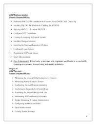 Sap Basis Resume Sample Sap Basis Resumes Sap Basis Admin Resume