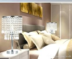 bedroom side table lamps bedroom end table lamps chrome round crystal chandelier bedroom nightstand table lamp led night light bedside bedroom bedside table