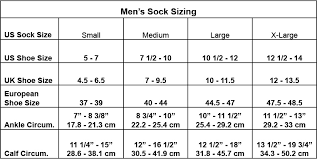 Youth Sock Size Chart Charts For Sizing Socks Arne Carlos
