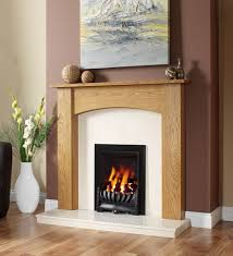 avantgarde slimline inset gas fire with darwin timber fire surround