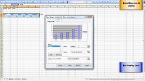 Chart Wizard Button Excel 2016 Excel 11 Adding A Chart Using Chart Wizard Youtube