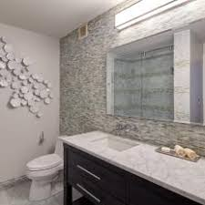 contemporary single vanity bathroom features glass tile accent wall bathroom accent tile s70