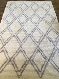 pottery barn diamond rug grey 5 x8 100 wool sold out color size pb teen farmhouse moroccan style