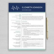Nurse Resume Template Extraordinary Nurse Resume Medical CV Template Resume Templates Creative Market