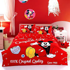 queen size minnie mouse bedding sets mickey and mouse red s cartoon bedding set 5 include