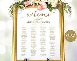 Wedding Chart Seating Template Wedding Seating Chart Etsy