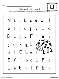 Alphabet Letter Hunt Letter L Worksheet
