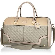 River Island Grey quilted weekend bag - Polyvore & River Island Grey quilted weekend bag Adamdwight.com