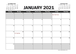 Just click print right from your browser. Printable 2021 Excel Calendar Templates Calendarlabs