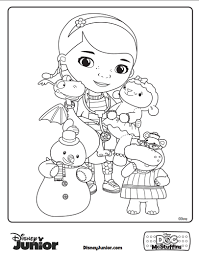Doc Mcstuffins Coloring Pages For Mushy