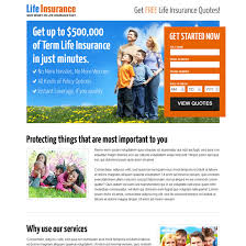 Free Term Life Insurance Quotes Magnificent Life Insurance Free Quote Lead Capture Landing Page Design Template