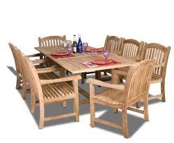 teak piece dining set amazonia teak newcastle  piece teak rectangular dining set