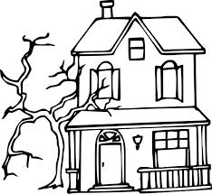 Coloriage Maison Hant E Halloween Imprimer Sur Coloriages Info