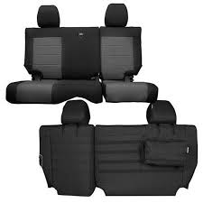 bartact rear bench seat cover black gray tjsc0306rbbg slickrock 4x4