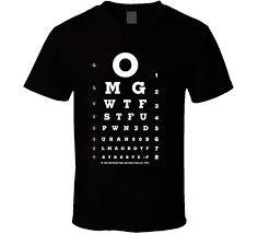 Funny Eye Chart T Shirt Amazon Com