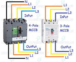 mccb wiring connection diagram for pole and pole circuit breakers 3 pole mccb breaker wiring mccb wiring diagram