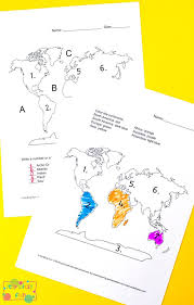 Continents and Oceans Worksheets - Free Word Search, Quiz and More ...