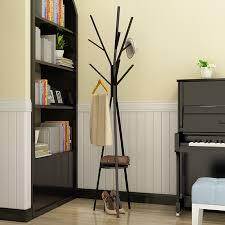Metal Coat Rack With Shelf Metal Tree Style Coat Stand 100X100X100CM Floor Type Hanger Creative 62
