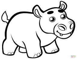 Hippo Coloring Pages Printable Free Books And Monesmapyrenecom