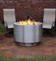 38 round stainless steel lp tank fire pit available in wood burning