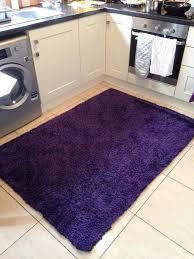 120 x 170 deep purple rug kitchen living room bedroom decor soft furnishings dark purple