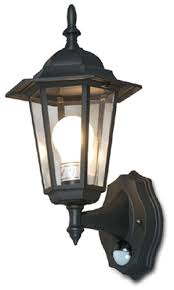 outdoor wall lighting system with motion sensor black
