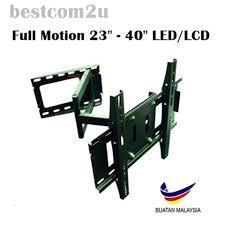 full motion 23 40 inch adjule tv bracket tilt wall mount