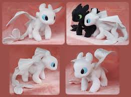 Clay Light Fury Young Light Fury Handmade Plush By Piquipauparro How