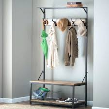 Hall Tree Coat Rack With Bench entryway wood hall tree coat rack storage bench 100asydollars 32