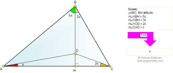 go geometry problem triangle altitude angles online geometry problem 674 triangle altitude angles