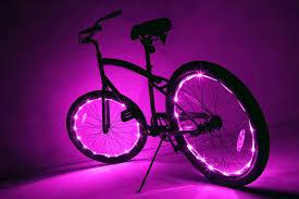 Lights On Wheels Of A Bicycle Bike Lights Wheels Led