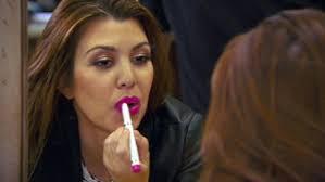 mac lady danger kourtney kardashians khroma lipstick in shocking pink
