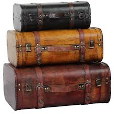 Three Colored Vintage Style Luggage Suitcase (Set of 3) - Free Shipping  Today - Overstock.com - 17231107