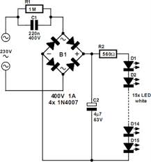 230v white led lamp circuit project electronics project circuit for you