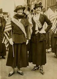 unidentified woman and mrs phillip lydig in the wake up america demonstration april 19 1917 courtesy of the new york historical society