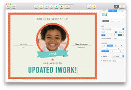 certificate template pages apple updates iwork for mac with force touch and split view support