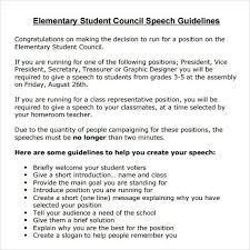 Elementary Essay Examples Elementary School Student Council Speech Examples Student