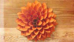 Dahlia Flower Making With Paper Paper Dahlia Flower Magdalene Project Org