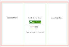 11x17 Trifold Template 11x17 Trifold Template Template 2 Resume Examples