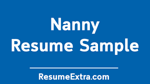 Professional Nanny Resume Sample Professional Nanny Resume Sample Resumeextra