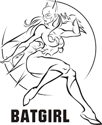Wonder Women Bat Girl Superhero Coloring