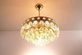 teardrop crystal chandelier vintage light
