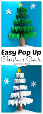 Diy Christmas Pop Up Card Red Ted Art